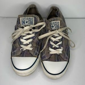 Converse one star plaid low tops